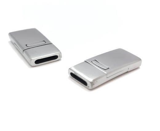 Stainless Steel Magnetic Clasp,Steel Matt,MGST-109-10*2.5mm