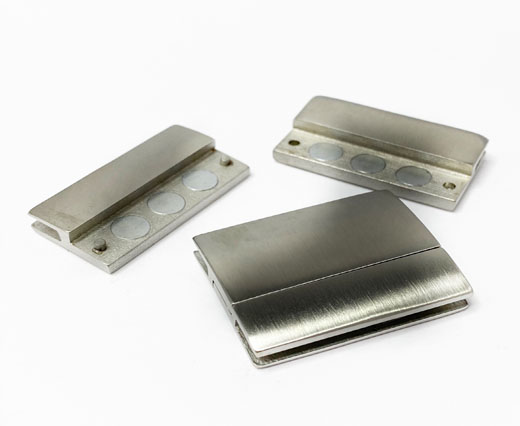 Stainless Steel Magnetic Clasp,Matt,MGST-111-30*2,5mm