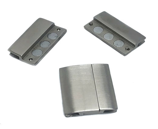 Stainless Steel Magnetic Clasp,Matt,MGST-111-30*3,5mm