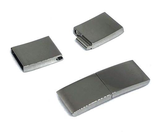 Stainless Steel Magnetic Clasp,Steel,MGST-131-10*3mm