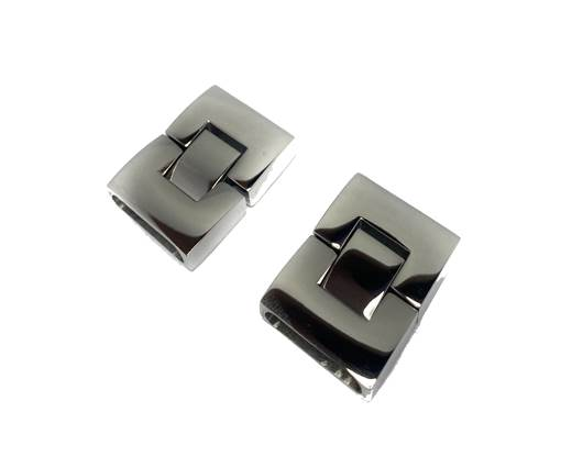 Stainless Steel Snap Lock Clasp - MGST-14-17*3,5mm