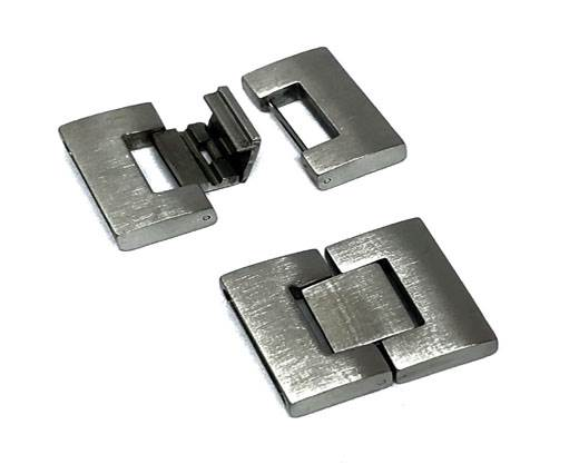Stainless Steel Magnetic Clasp,Matt,MGST-14-21*4mm