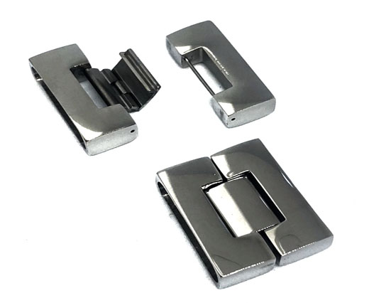 Stainless Steel Magnetic Clasp,Steel,MGST-14-30.5*7.5mm