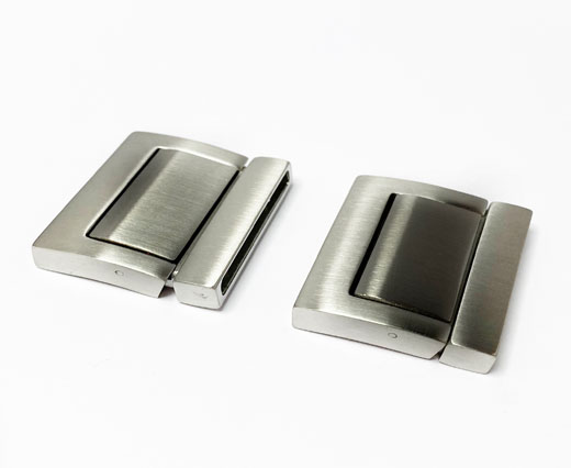 Stainless Steel Magnetic Clasp,Matt,MGST-218-30*3.5mm