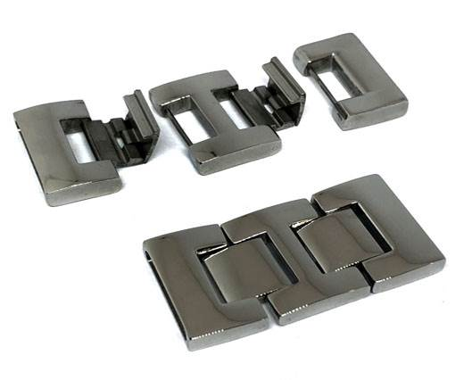 Stainless Steel Magnetic Clasp,Steel,MGST-52-25*3,5mm