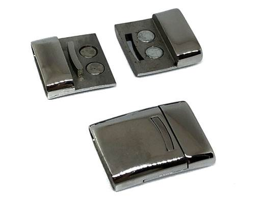 Stainless Steel Magnetic Clasp,Matt,MGST-58-21*7mm