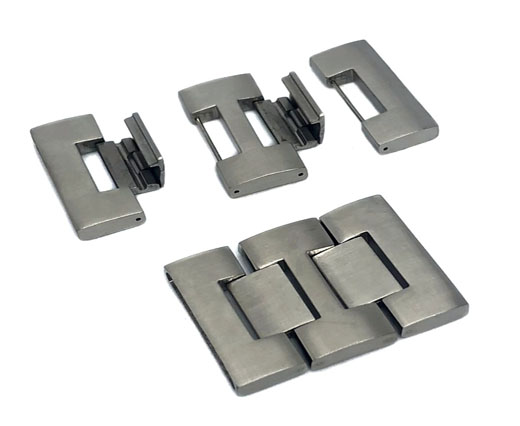 Stainless Steel Magnetic Clasp,Matt,MGST-75-30*3.5mm