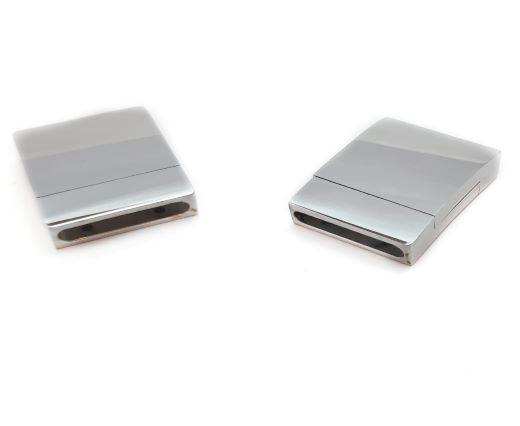 Stainless Steel Magnetic Clasp,Steel,MGST-104-15*3mm