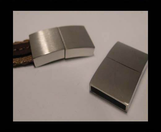 Stainless Steel Magnetic clasps - MGST-114-15*3mm-Matt