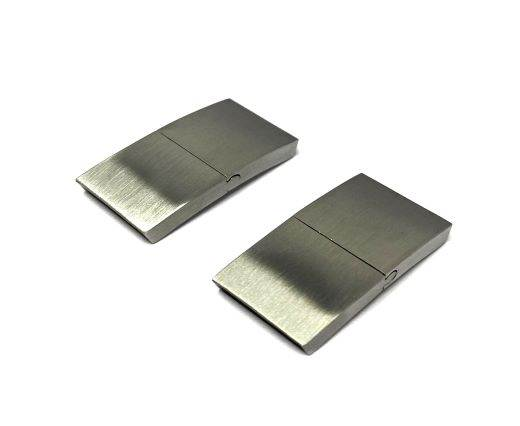 Stainless Steel Magnetic Clasp,Matt,MGST-114-15*3mm