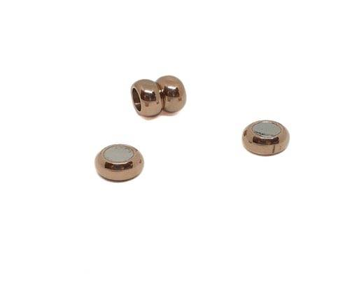 Stainless Steel Magnetic Clasp,Rose Gold,MGST-116-6mm-01