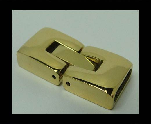 Stainless Steel Snap Lock Clasp - MGST-14-10*2,5mm-GOLD