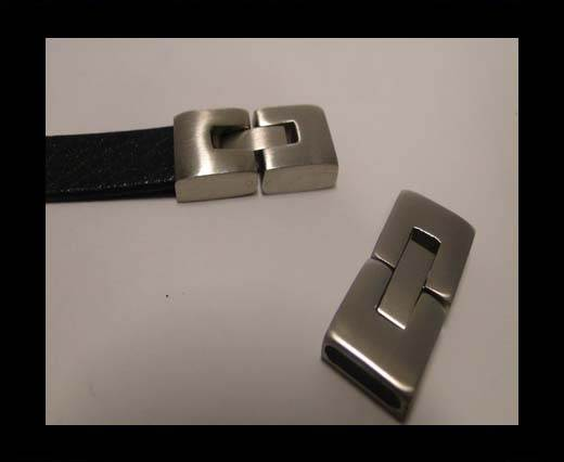 Stainless Steel Snap Lock Clasp - MGST-14-14*3.5mm-Matt