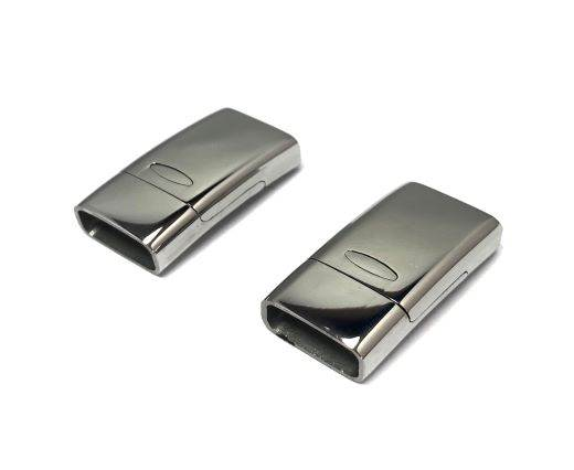 Stainless Steel Magnetic Clasp,Steel,MGST-150-14*6mm