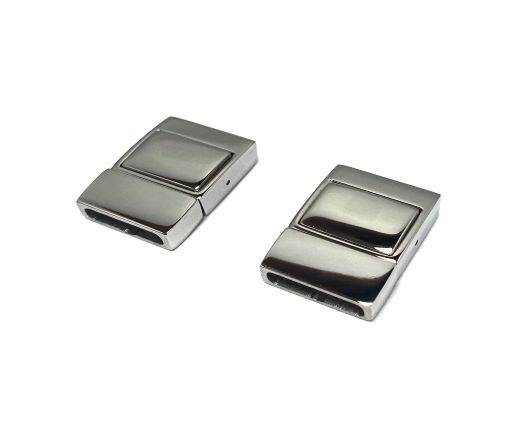 Stainless Steel Magnetic Clasp,Steel,MGST-168-14*3.5mm