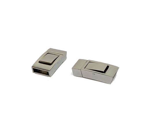 Stainless Steel Magnetic clasps - MGST-199-9*3.8mm