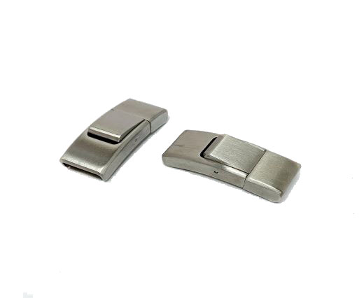Stainless Steel Magnetic clasps - MGST-244 -11.5*3MM-Steel Matt