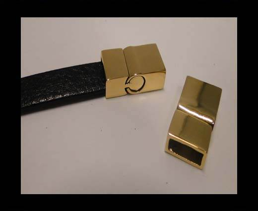 Stainless Steel Magnetic clasps - MGST-30-10*5mm-Gold