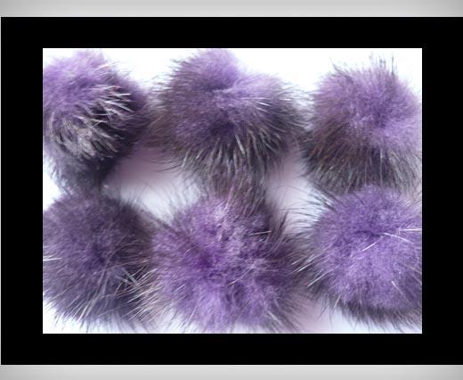 Mink Pom Pom Dark Purple