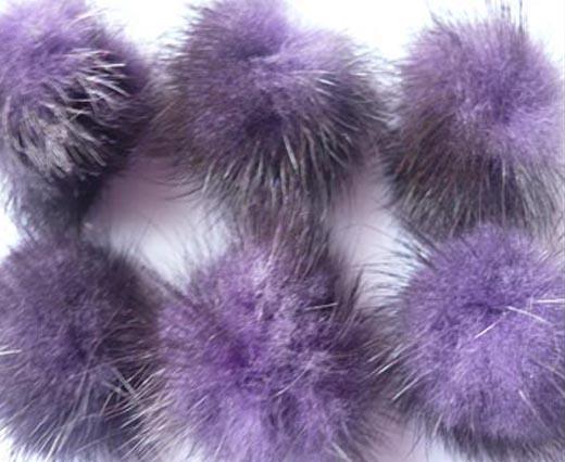Mink Pom Pom Dark-Purple