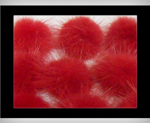 Buy Mink Pom Pom Red at wholesale prices