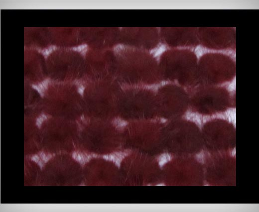 Mink Pom Pom Wine-Red