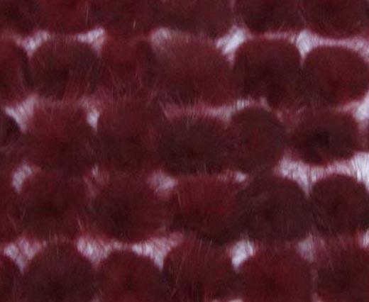 Mink Pom Pom Wine-Red