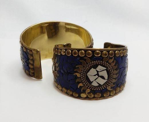 Mosaic brass cuff Style 1 - 5cm