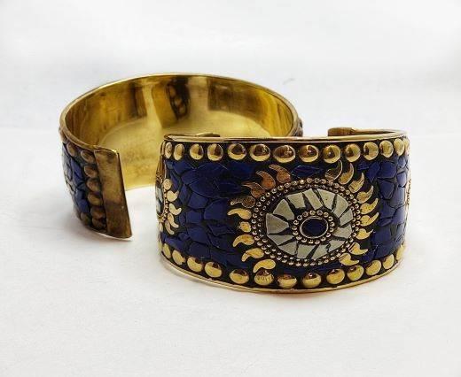 Mosaic brass cuff Style 2 - 5 cm