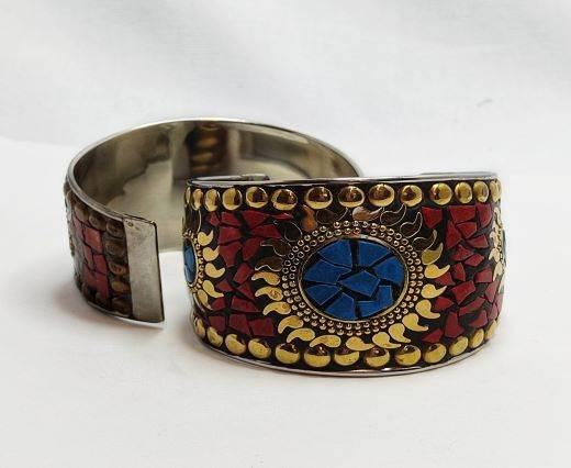 Mosaic brass cuff Style 3 -5 cm