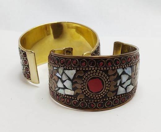 Mosaic brass cuff Style 9 - 4cm
