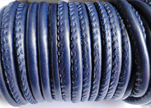 Synthetic nappa leather 4mm - Dark Blue