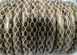 imitation nappa leather 4mm Snake-Style-Cream