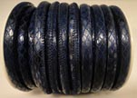 imitation nappa leather 4mm Snake-Style-Oblong-Blue