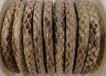 imitation nappa leather 4mm Snake-Style-Oblong-Brown