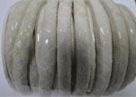 imitation nappa leather 4mm Snake-Style-Oblong-White