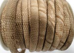 faux nappa leather 4mm Snake-Crocodile-Style-Brown