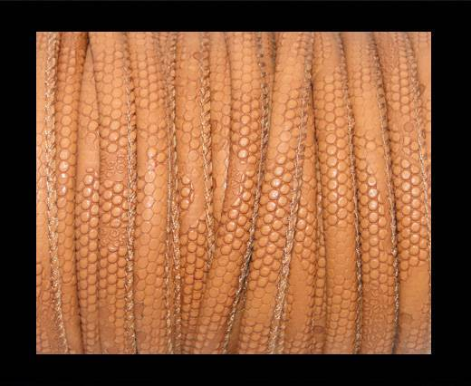 imitation nappa leather 4mm Snake-Dotted-Style-Light Brown