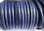 Faux nappa leather 6mm- Dark-Blue
