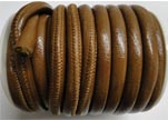 Faux nappa leather 6mm- Fine-Brown