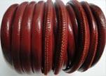 imitation Nappa leather 6mm - Fine-Red
