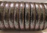 Faux nappa leather 6mm- Glitter-Black