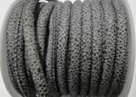 Faux nappa leather 6mm- Glitter-Metalic Snake Style Grey