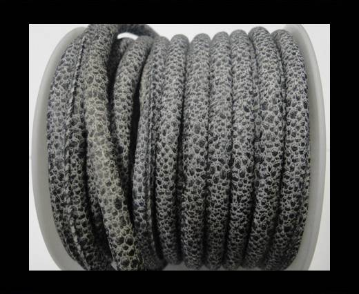 Buy Faux nappa leather 6mm- Glitter-Metalic Snake Style Grey at wholesale prices