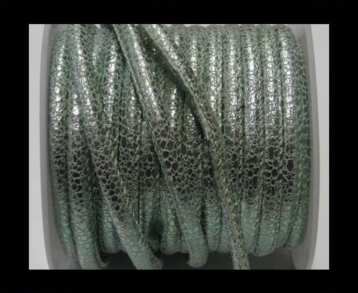 Buy Faux nappa leather 6mm- Glitter-Metallic Snake Style-Green at wholesale prices