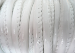 Faux nappa leather 6mm- Glossy-White