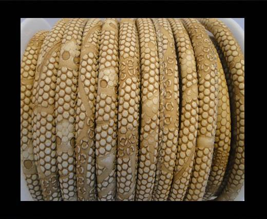 Buy imitation nappa leather 6mm Snake-Dotted-Style - Beige at wholesale prices