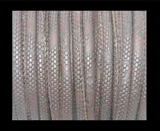 Buy imitation nappa leather 6mm Snake-Dotted-Style - Coffee at wholesale prices