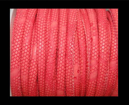 Buy imitation nappa leather 6mm Snake-Dotted-Style - Dark Pink at wholesale prices