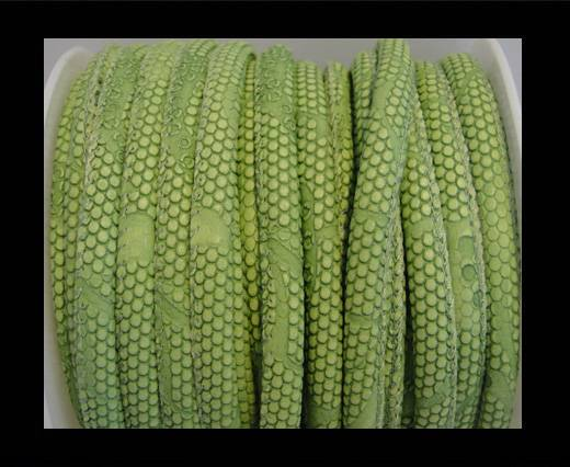Buy imitation nappa leather 6mm Snake-Dotted-Style-Peridot at wholesale prices